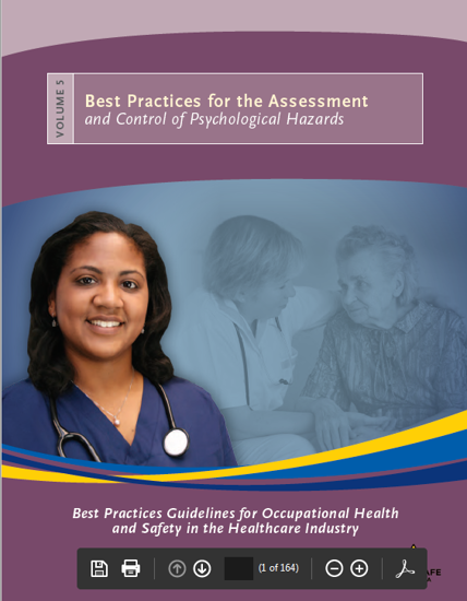 Picture of Best Practices Guidelines for Occupational Health and Safety in the Healthcare Industry. Volume 5: Best Practices for the Assessment and Control of Psychological Hazards