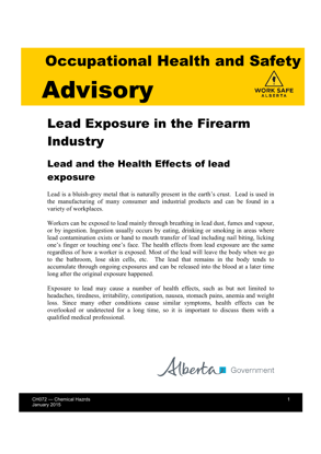 Picture of Lead Exposure in the Firearm Industry