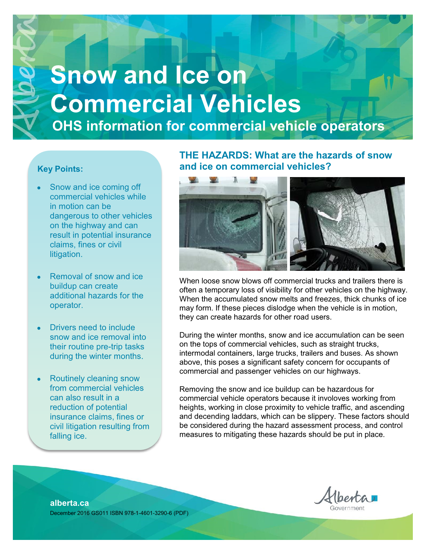 Picture of Snow and Ice on Commercial Vehicles