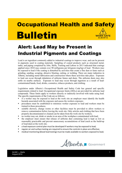 Picture of Alert: Lead May be Present in Industrial Pigments and Coatings
