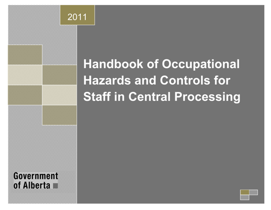 Picture of Handbook of Occupational Hazards and Controls for Staff in Central Processing