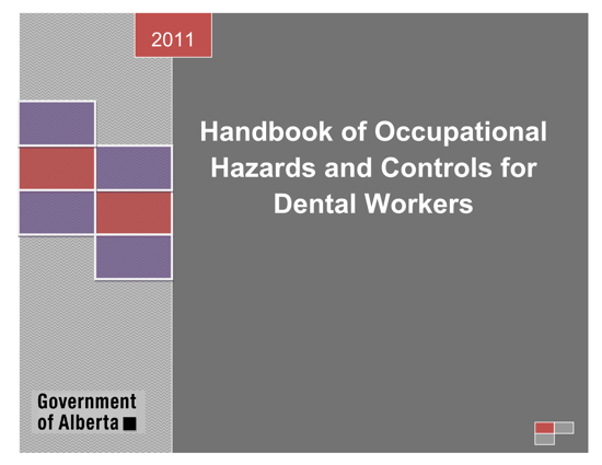 Picture of Handbook of Occupational Hazards and Controls for Dental Workers