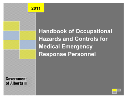 Picture of Handbook of Occupational Hazards and Controls for Medical Emergency Response Personnel