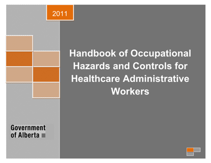 Picture of Handbook of Occupational Hazards and Controls for Healthcare Administrative Workers