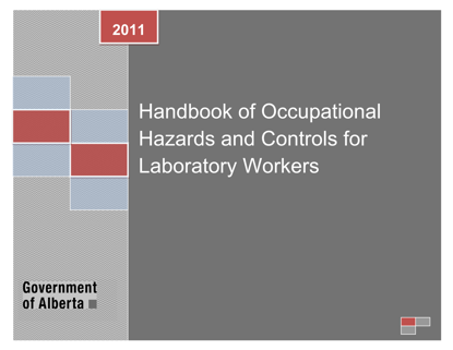 Picture of Handbook of Occupational Hazards and Controls for Laboratory Workers