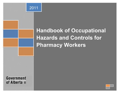Picture of Handbook of Occupational Hazards and Controls for Pharmacy Workers