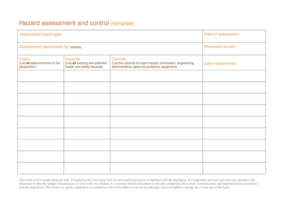 Picture of Occupational health and safety guide for retail workers and employers: templates