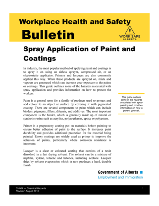 Picture of Spray Application of Paint and Coatings