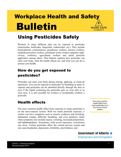 Picture of Using Pesticides Safely