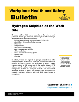 Picture of Hydrogen Sulphide at the Work Site