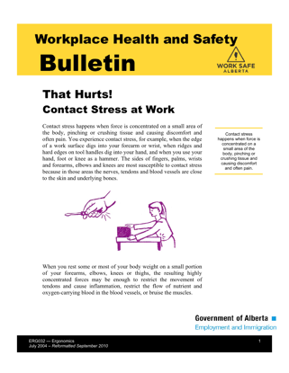 Picture of That Hurts! Contact Stress at Work