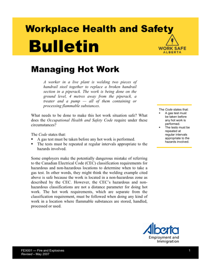 Picture of Managing Hot Work