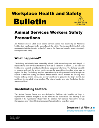 Picture of Animal Services Workers Safety Precautions
