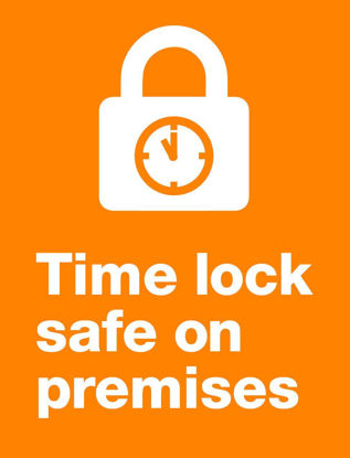 Picture of Time lock safe on premises
