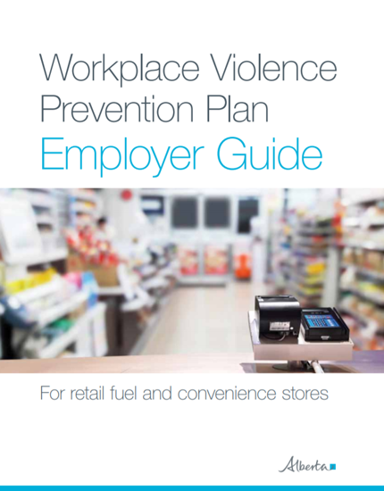 Picture of Workplace violence prevention plan: employer guide for retail fuel and convenience stores