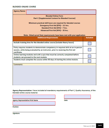 Picture of Workplace first aid approval: Blended Online Form
