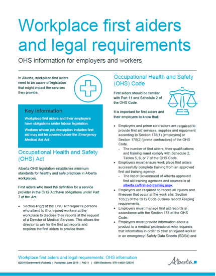 Picture of Workplace first aiders and legal requirements