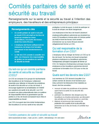 Picture of Comités paritaires de santé et sécurité au travail