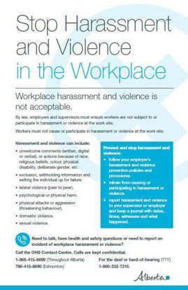 Picture of Stop Harassment and Violence in the Workplace