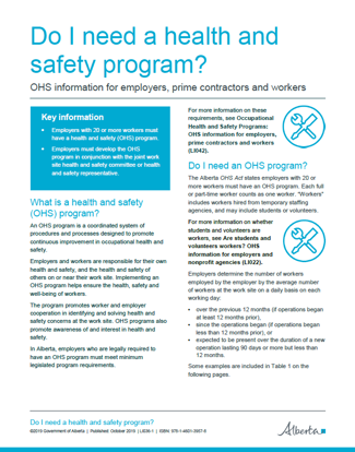 Picture of Do I need a health and safety program?