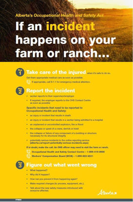 Picture of If an incident happens on your farm or ranch...