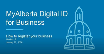 Picture of MyAlberta digital ID for business - webinar