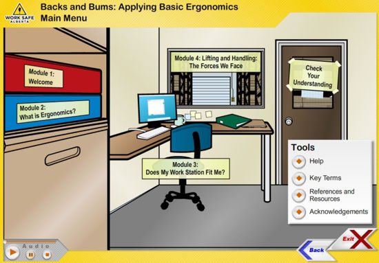 Picture of Backs and bums: applying basic ergonomics - eLearning