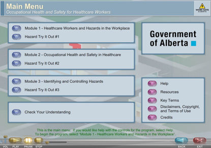 Picture of Occupational health and safety for healthcare workers - eLearning
