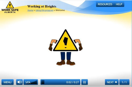 Picture of Working from heights - eLearning