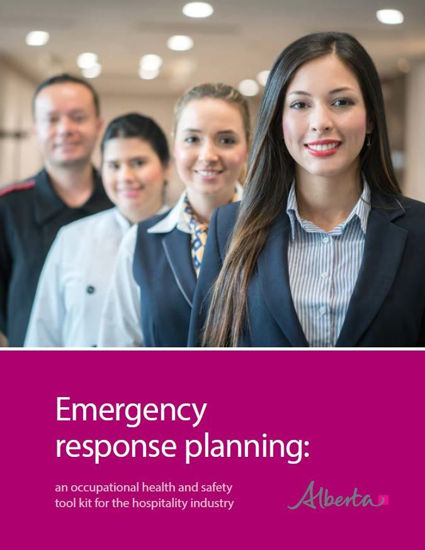 Picture of Emergency response planning: an occupational health and safety tool kit for the hospitality industry