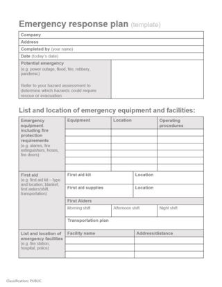 Picture of Emergency response planning: templates for the hospitality industry