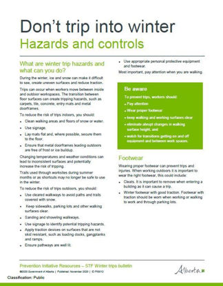 Picture of Don't trip into winter 1: Hazards and controls