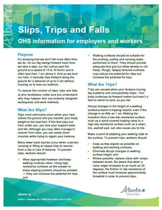 Picture of Slips, Trips and Falls