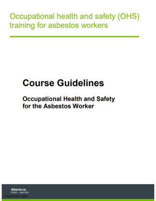 Picture of Course Guidelines: Occupational Health and Safety for the Asbestos Worker