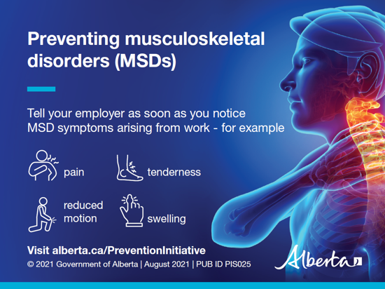 Picture of Preventing musculoskeletal disorders: Postcard 1, full colour