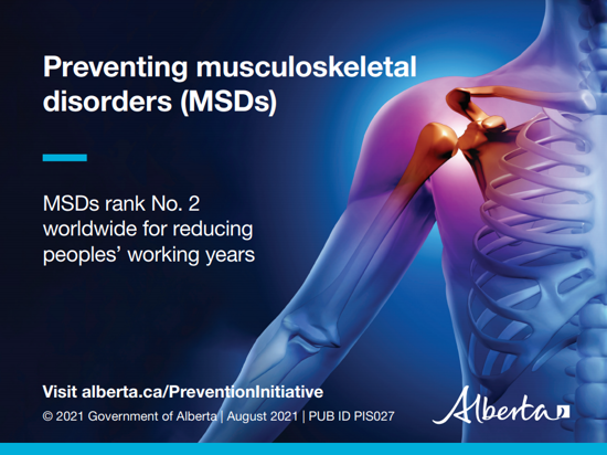 Picture of Preventing musculoskeletal disorders: Postcard 2, full colour