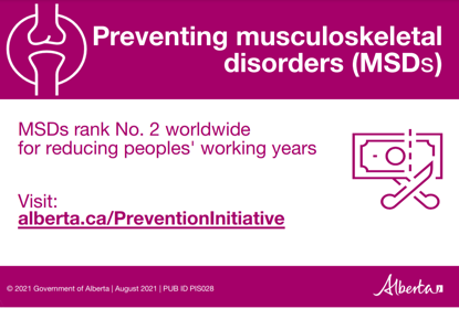 Picture of Preventing musculoskeletal disorders: Postcard 2, one colour