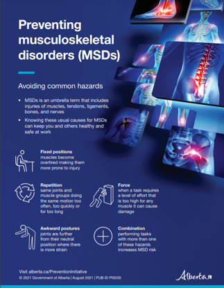 Picture of Preventing musculoskeletal disorders: Poster 1, full colour, letter