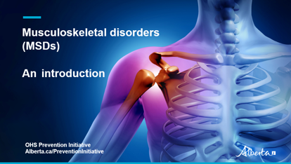Picture of MSD video 1: Introduction to musculoskeletal disorders