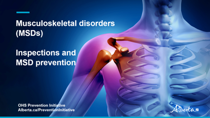 Picture of MSD video 6: Workplace inspections of musculoskeletal disorder controls